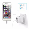 2-Port 24W USB Wall Charger with US & EU plug home charger for iPhone 7/6s/Plus, iPad Air 2/mini 3, Galaxy Series,Note Series