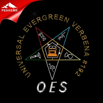 Greek OES Rhinestone Iron On Transfer Wholesale for your tee shirt