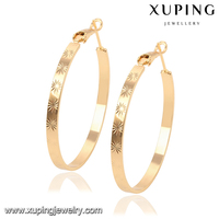 91905 xuping new 2016 latest gold earring designs,fahsion gold hoop earrings