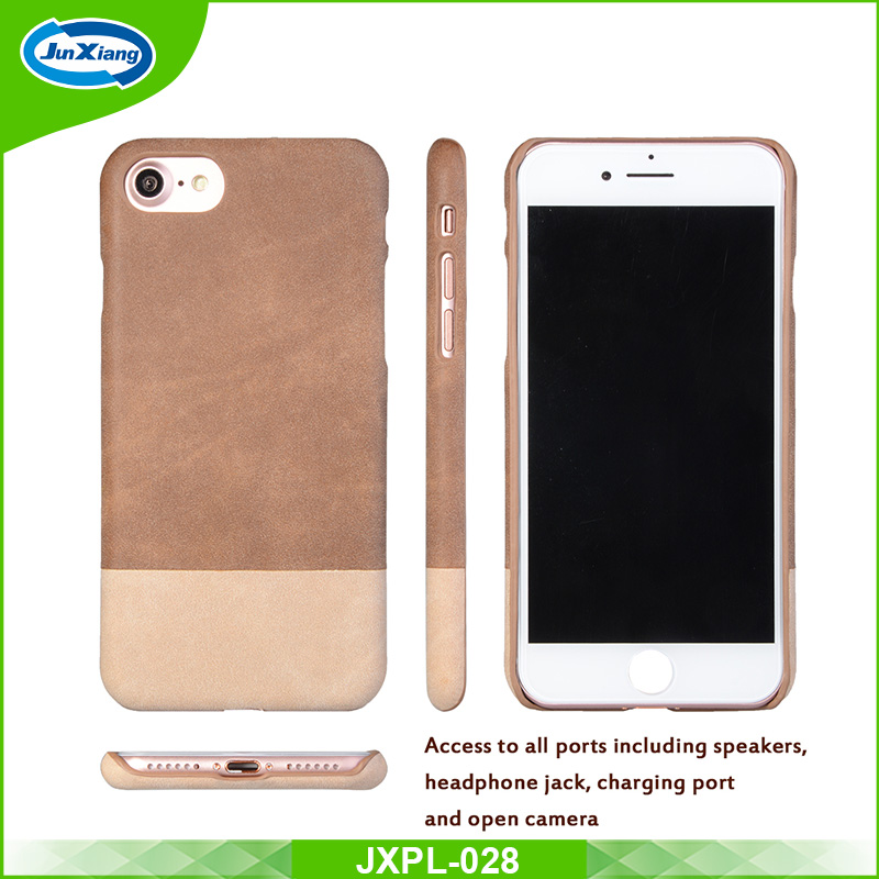 New products ultra thin PU leather hard PC back case for iphone 7 7 plus