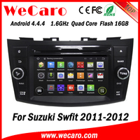 Wecaro WC-SS7669 android 4.4.4 car dvd player for suzuki swift touch screen car stereo 3G wifi playstore 2011 2012