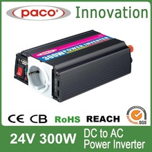 China Factory Modified Sine Wave 24V 300W Inverter With USB Port