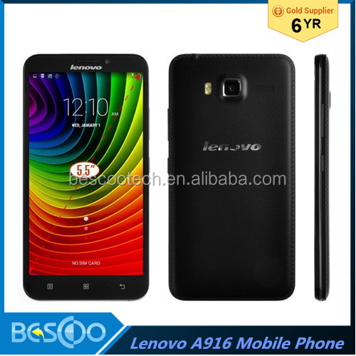 "New Lenovo A916 4G FDD LTE Phone 5.5"" HD IPS Android 4.4 OS MTK6592 Octa core 1.4GHz Dual sim card Smartphone alibaba china"