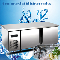 kitchen horizontal refrigerator workbench freezer storage cabinet freezer energy-saving console double temperature