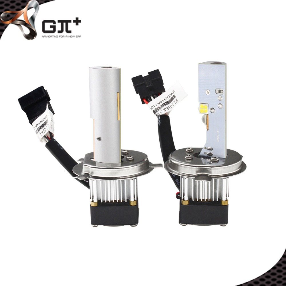 Efficient Heat Dessipation LED H4 Bulb Car Headlight Kit Driving Lamp H/L for VW POLO 2012-2013