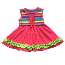 2017 Summer Striped Kids Cotton Dresses Little Girls Flutter Party Dress