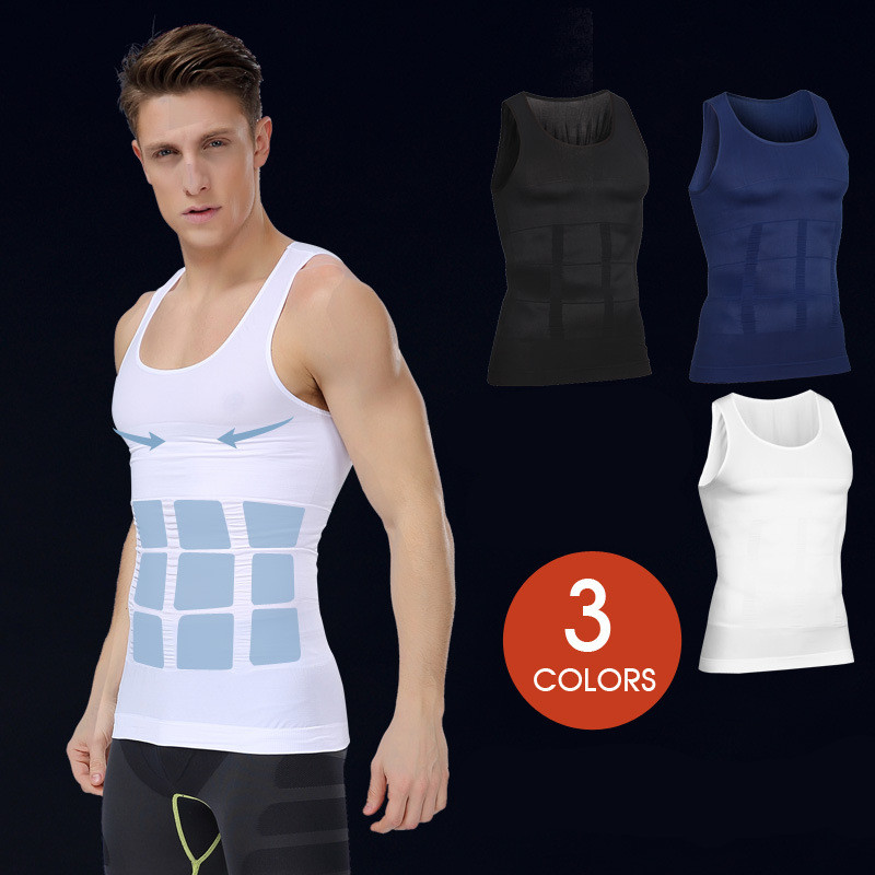 Nylon White Fitness Wear Gym Clothing Mens Compression Wear