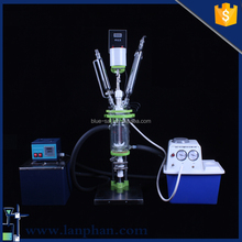 2016 Best Mini Glass Chemical Reactor Price for Bio Mixing