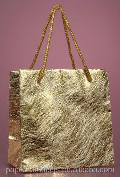 dongguan OEM handmade luxury special synthetic paper gift bag/paper cosmetics bag