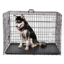 Folding Metal Dog Crate wire dog crate dog cages pet crate dog houses dog carrier dog kennel good quality Foldable dog crate