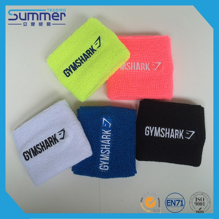 2017 Hottest Custom Cotton Wrist Wristbands Sweat Sweatband Tennis Sports Sweatband
