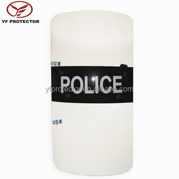 impact resistant security Polycarbonate shield bouclier anti emeutes