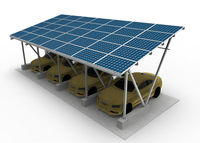 Solar Carport With Aluminum Frame
