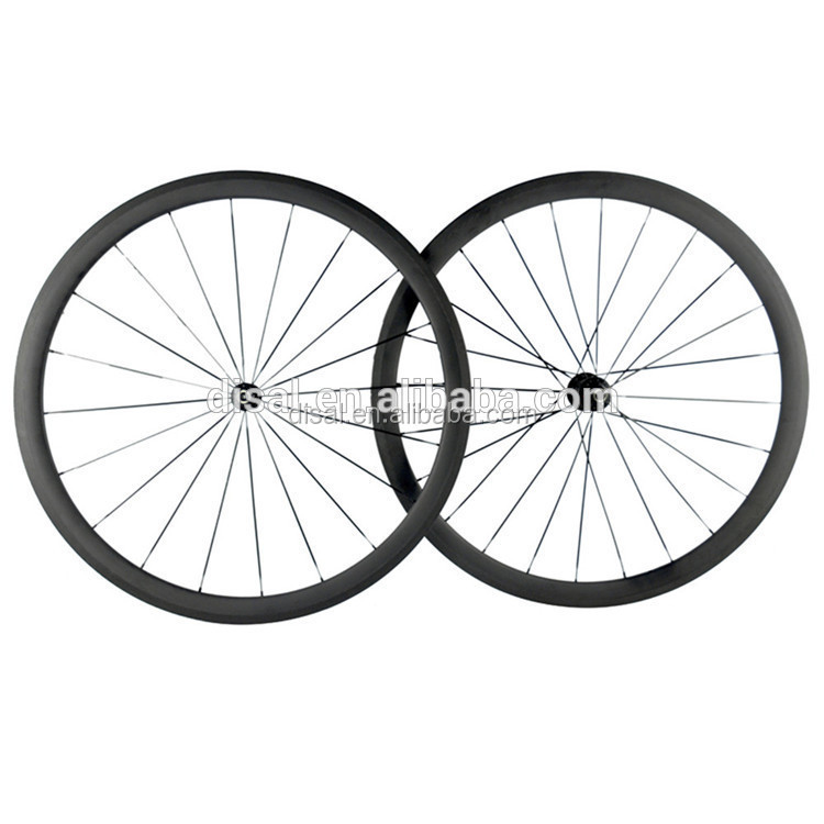 700c Wheels 38mm Carbon Wheel Set for Road Bike Carbon Clincher Wheelset with Free Shipping