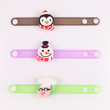 Christmas snowman pvc flashing led wristbands