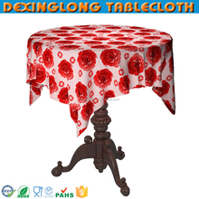 new fashion Valentine's round pvc tablecloth with non-wovn backing