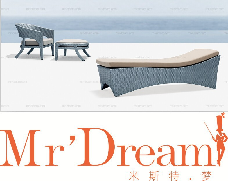 Mr Dream sun loungers plastic beach