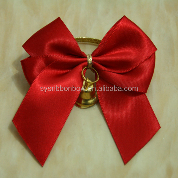 Satin ribbon bottle bows for wine packing