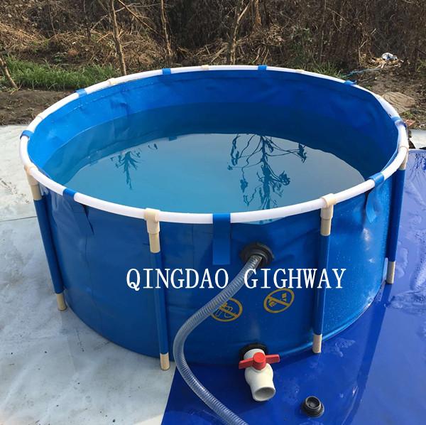 Anti uv aquarium round plastic indoor and outdoor fish for Aquaculture fish tanks