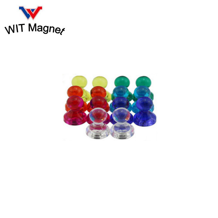 Strong Push Pin Magnets/Magnetic Push Pins for Fridge Magnets, Whiteboards, Calendars, Photo Magnets For Refrigerator, and More