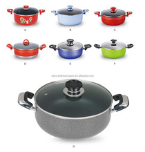 30cm press aluminum kitchen pot with non-stick coating inner