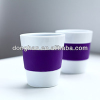 Single color ceramic Insulated mugs with stoneware