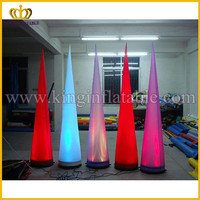 Cheap Price Inflatable LED lights Ivory, Inflatable LED Lighting Cone For Party Decoration