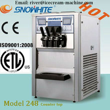 commercial soft ice cream machine, stainless steel,frozen yogurt machine, desktop