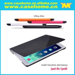 Multi-function Ultra thin Leather case for ipad air , Magnetic Smart Case Cover for Apple ipad air