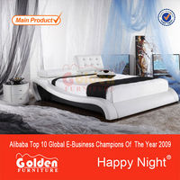 Alibaba new design adjustable headboard four poster bed