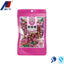 design plastic rose scented tea pouch