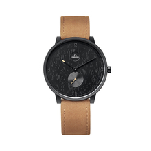 2018 Most fashion watch for man with tanned leather strap