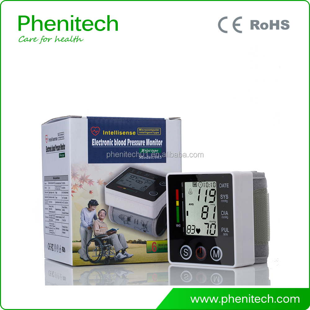 CE Approved Medical Supplies Digital Wrist Type Blood Pressure Patient Monitor