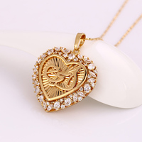 31628-xuping Gold Plated Allah Muslim Islamic Quran heart-shaped Pendant