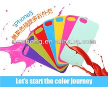 Candy color silicone colorful shell phone case for iphone 5 5G 5s