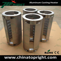 Cast in heater, aluminum heating element for Packaging machinery