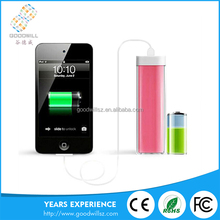 wholesale slim colorful Mini portable universal power bank with customize LOGO