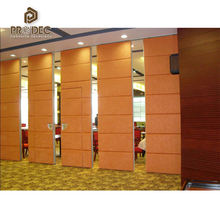 Decorative restaurant divider temporary acoustic soundproof movable partition wall