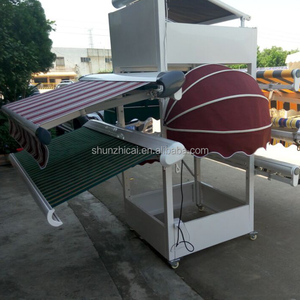 full cassete manual electric double control retractable diy aluminum awning,rain cover for balcony