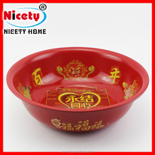 Wholesale joyful tin metal kitchen wash bowl / wedding wash basin with printing pattern