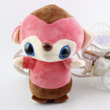 Factory price Wholesale pink soft fox plush toys cute animals toys fox keychain