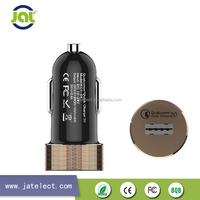 quick charger OEM/ODM 2016 newest Real 2.4A car charger qualicomm quick charge 2.0 technology
