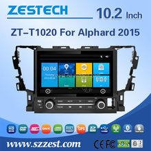 New car radio for Toyota alphard 2015 parts accessories body kit with mp3 mp4 player Analog TV support IPOD
