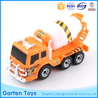 Popular mini educational plastic electric universal concrete mixer truck toy light music