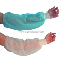 non-woven cover/disposable plastic arm covers/Waterproof sleeve cover with lowest price