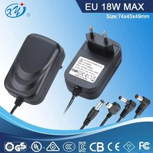 input 100-240v output 12v 1.5a 18w ac dc adapter with GS certificate