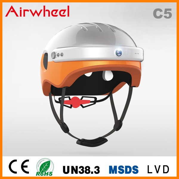 New product Airwheel C5 intelligent bike helmet for cycling with camera bluetooth speaker