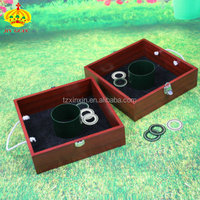 Wooden washer box toss game outdoor games for kids
