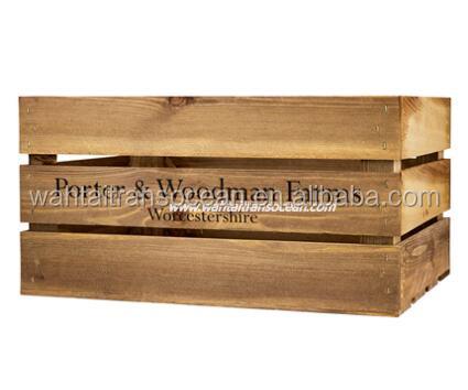 rstico de la vendimia de madera caja de caja en venta
