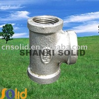 Malleable iron pipe fitting Tee